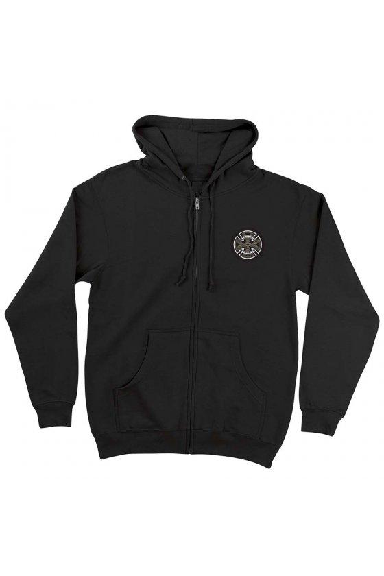 Independent - Cab Flourish Zip Hooded Midweight Sweatshirt Black