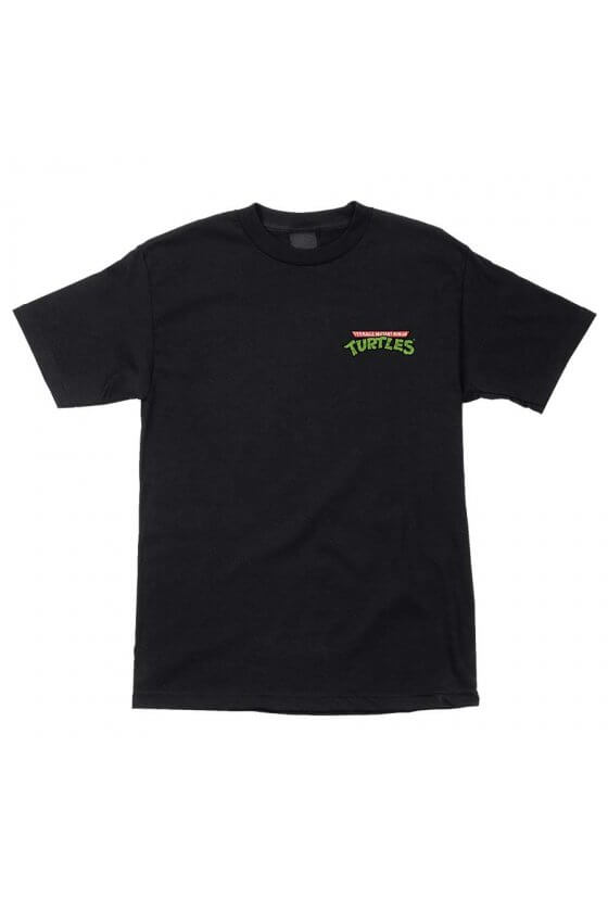 Santa Cruz - TMNT Pizza Dot S/S Regular T-Shirt Mens Black