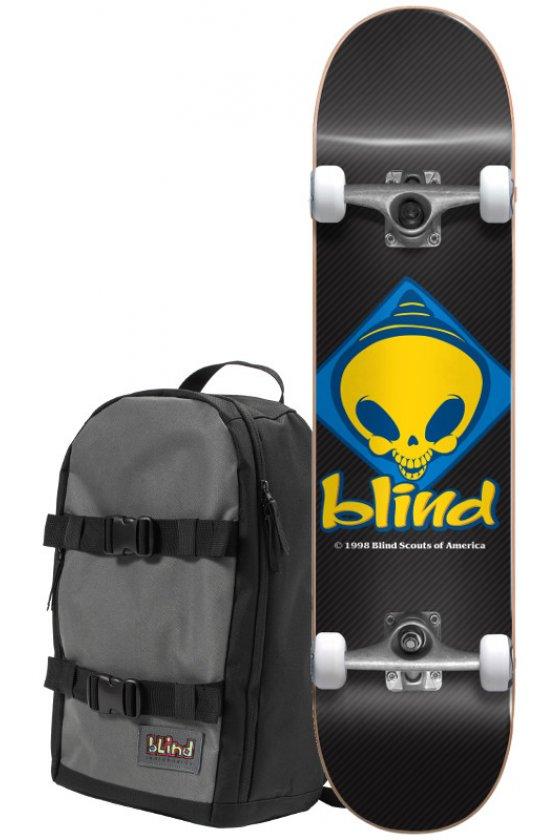 "Blind - Retro Reaper Scout Black 7.75"" W/Backpack"