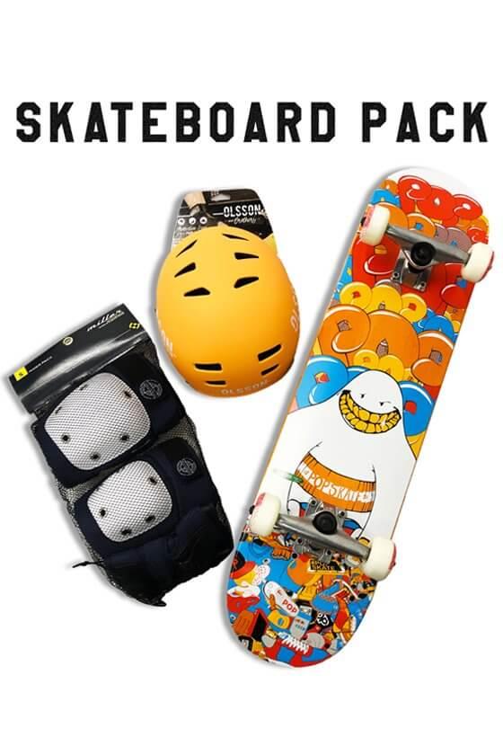 Skateboard Pack: Pack: Skateboard - Casco - Protezioni