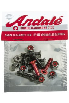"Andale - Combo Hardware 7/8"" Red"