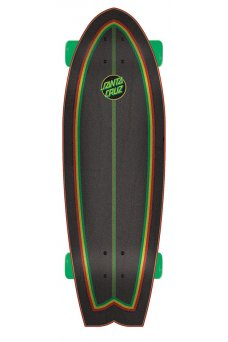 Santa Cruz - Rastafied Dot 8.8in x 27.7in Cruzer Shark