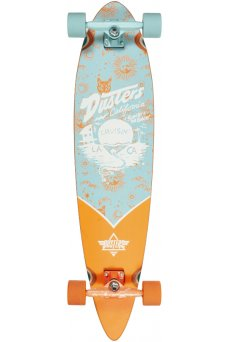 "Dusters - Cruisin Zodiac Blue Orange 38"" x 8.75""- 65x47mm 78A - Tensor 6.0"" - Wheel Base 24.5"""