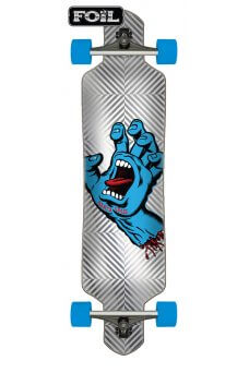 Santa Cruz - Screaming Hand Foil 9.2in x 41in Cruzer Drop Thru