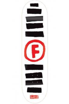 "Foundation - Team Doodle Stripe White 8.5"""