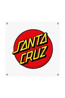 Santa Cruz - Classic Dot Banner Vinyl Black 36in in x 36in
