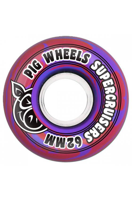 Pig - Supercruiser Swirl Red Purple 62mm 85A