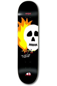 "Enjoi - Team Skulls and Flames Black 8.5"""