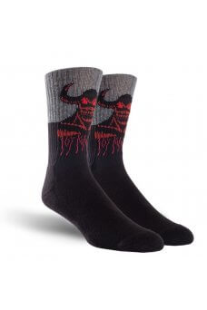 Toy M. - Tm Hell Monster Crew Socks Black