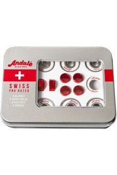 Andale - Swiss Tin Bok Red